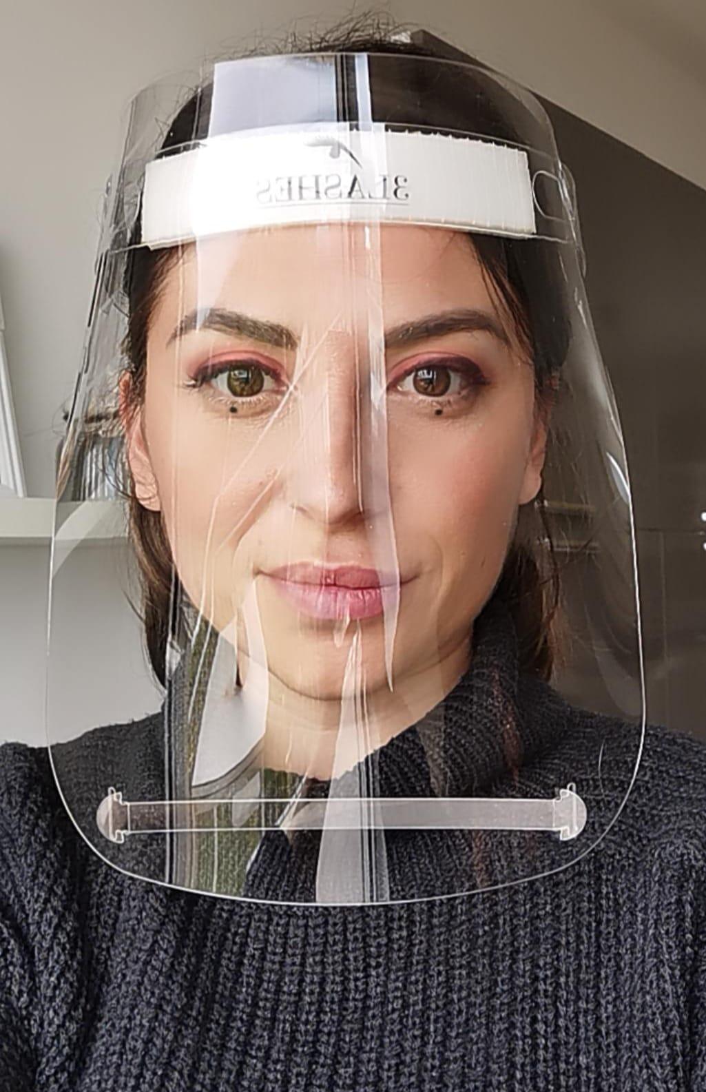 Visiera protettiva in plexiglass